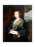 Portrait of a Woman With a Rose Giclee Print by Sir Anthonis VanDyck