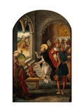 Saint Dominic Resurrects a Boy Giclee Print by Pedro Berruguete