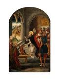 Saint Dominic Resurrects a Boy Giclee Print by Pedro Berruguete