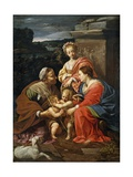 Virgin And Child With John the Baptist As a Boy, Saint Elizabeth And Saint Catherine Giclee Print