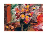 Flower Vase on a Table Giclee Print by Lovis Corinth