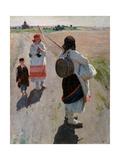 To the Work Giclee Print by Sergei Arsenyevich Vinogradov