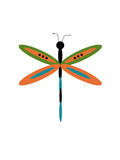 Dragonfly Goes Mod Three Photographic Print by Jan Weiss
