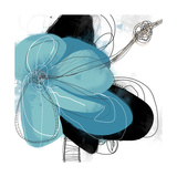 Tiffany Blue Floral Three Photographic Print by Jan Weiss