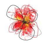 Red Liquid Floral One Fotografisk tryk af Jan Weiss