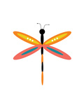 Dragonfly Goes Mod Four Photographic Print by Jan Weiss