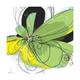 Green Pop Petals 1 Fotodruck von Jan Weiss