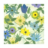 Blue and Green Flowers Photographic Print by Jan Weiss