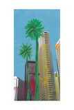 Palms In Tokyo Print by Jan Weiss
