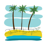 Beach Day Palms 2 Prints by Jan Weiss