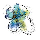 Azure Petals One Fotografie-Druck von Jan Weiss