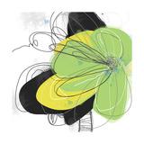Green Pop Petals 2 Fotodruck von Jan Weiss