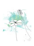 Blue Floral Splash Fotografie-Druck von Jan Weiss