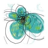 Aqua Petals Fotografie-Druck von Jan Weiss