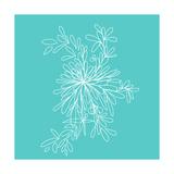Blossom Pop Aqua Art by Jan Weiss