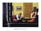 Edward Hopper - Room in New York, 1932 - Poster