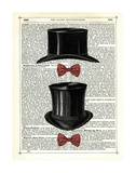 Top Hat & Bow Ties Print by Marion Mcconaghie