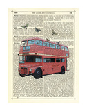Butterfly London Bus Prints by Marion Mcconaghie