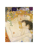Mother and Child (detail from The Three Ages of Woman), c. 1905 Poster av Gustav Klimt