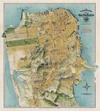August Chevalier - Map of San Francisco, California, 1912 - Reprodüksiyon