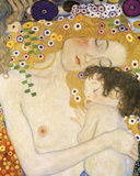Mother and Child (detail from The Three Ages of Woman), c. 1905 Plakater af Gustav Klimt