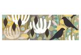 Birds in the Garden I Art by Tracy Walker