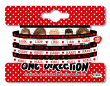 One Direction Gummy Bracelet Black & White Bracelet