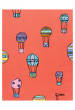 Balloons - Red Print by Brian Nash