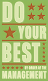 Do Your Best Posters by John Golden