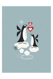 Penguin Love Plakat af Tracy Walker