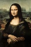 Leonardo Da Vinci Mona Lisa Print Plastic Sign Plastskilt av  Leonardo da Vinci
