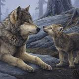 Brother Wolf (detail) Sztuka autor Daniel Smith