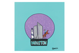 Houston Snow Globe Art by Brian Nash
