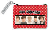 One Direction Polka Dot Zip Pouch Purse Zipper Pouch