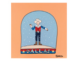 Dallas Snow Globe Prints by Brian Nash