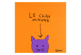 Le Chat Mauve Prints by Brian Nash