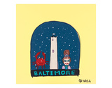 Baltimore Snow Globe Print by Brian Nash