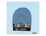 St. Louis Snow Globe Poster by Brian Nash
