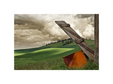 Landscape and Door Giclee Print by David Winston