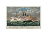 """The Grand New Steamboat """"Pilgrim"""", c. 1883 Giclee Print by  Currier & Ives"""