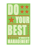 Do Your Best Posters by John W. Golden