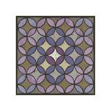Circles Linked - Plum Gicléetryck av Susan Clickner