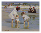 Children Playing at the Seashore Giclee Print by Edward Henry Potthast