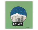 Denver Snow Globe Prints by Brian Nash