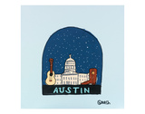 Austin Snow Globe Posters by Brian Nash