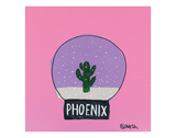 Phoenix Snow Globe Art by Brian Nash
