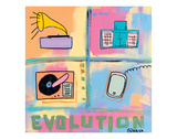 Evolution - Stereo Poster by Brian Nash