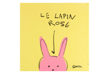 Le Lapin Rose Posters by Brian Nash