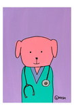 Pink Dog Doc Prints by Brian Nash