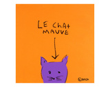 Le Chat Mauve Print by Brian Nash